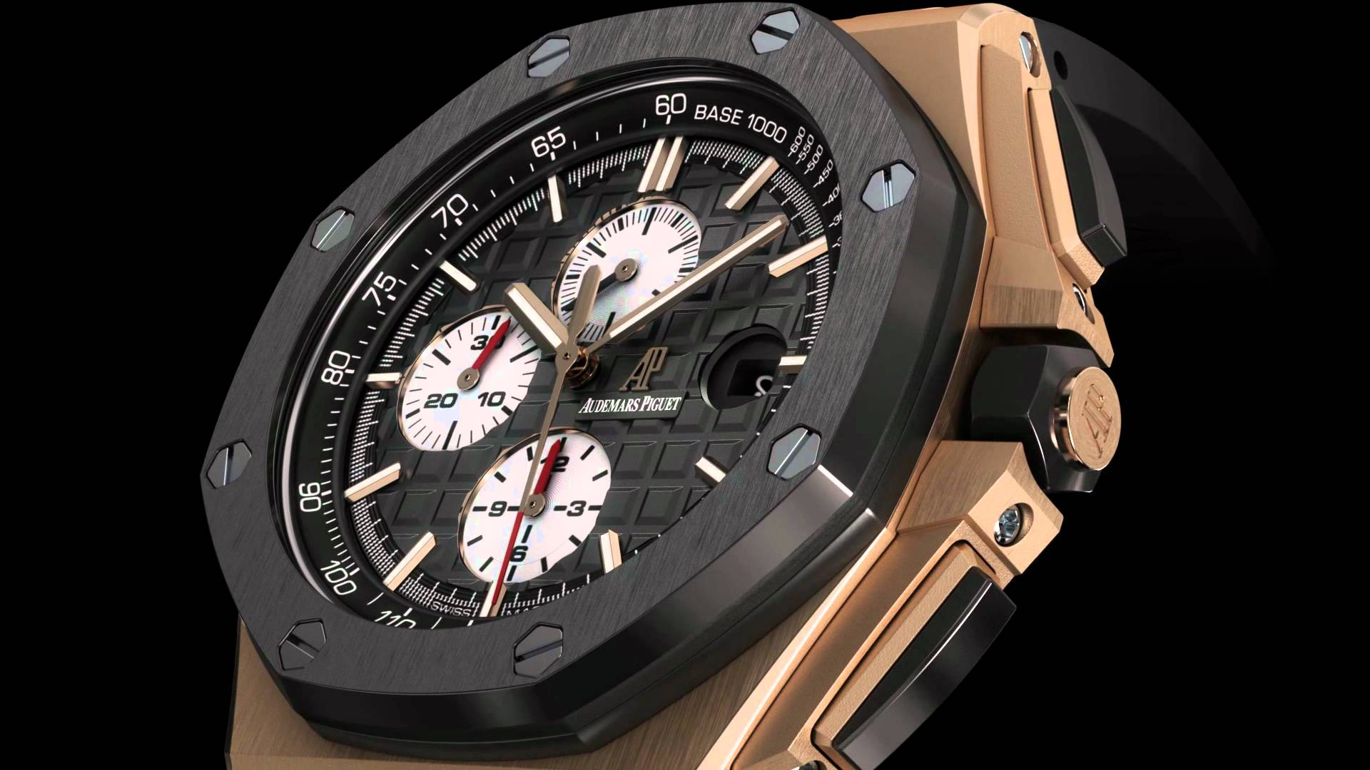 Audemar Piguet's Royal Oak Offshore 18kt Rose Gold & Ceramic Chronograph