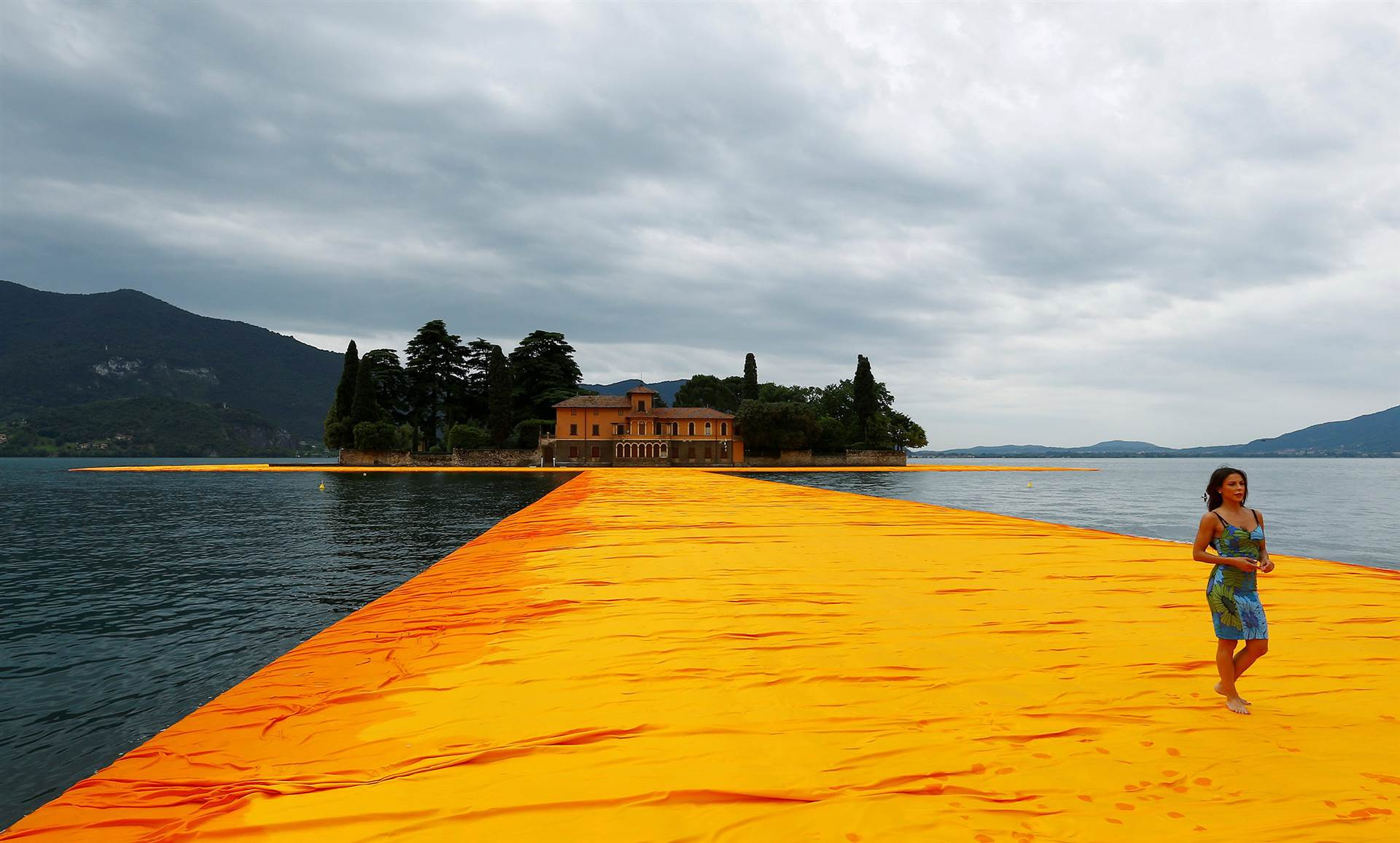 Christo's Floating Pier Opens on Lake Iseo