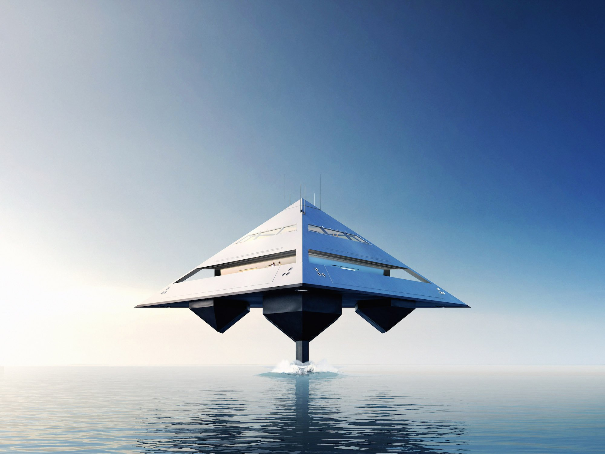 The Super Yacht Concept That Hovers Above The Water