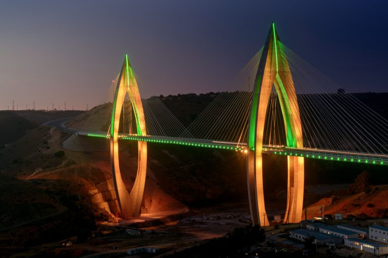Africa's Longest And Brightest Cable Stayed Bridge