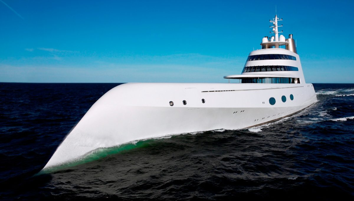 "The Groundbreaking Yacht ""A"" Hits The Market"