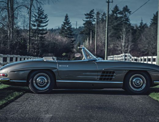 the Mercedes 300 SL Roadster