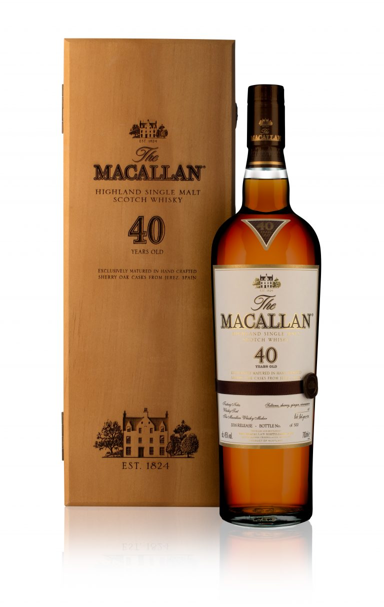 Macallan's 40-Year Sherry Oak Scotch