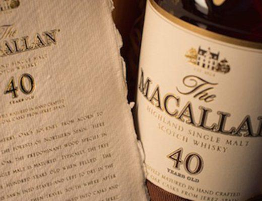 Macallan's 40-Year Sherry Oak Scotch