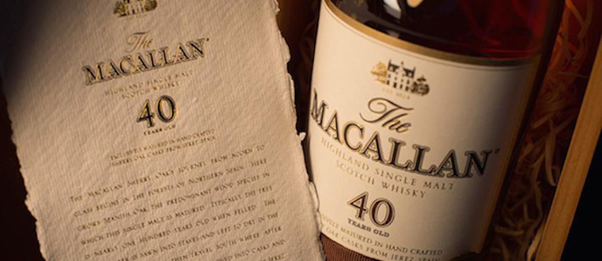 A Brilliant Choice: Macallan's 40-Year Sherry Oak Scotch