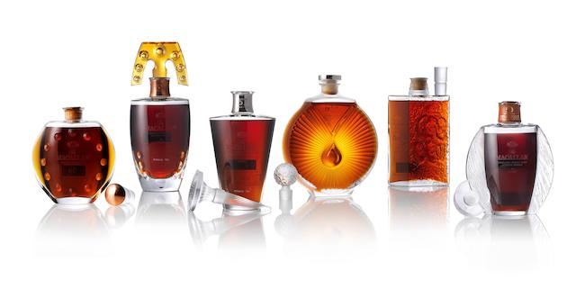 Macallan Lalique Six Pillars Collection sells for $485,000 at Bonhams Whisky Auction in Hong Kong