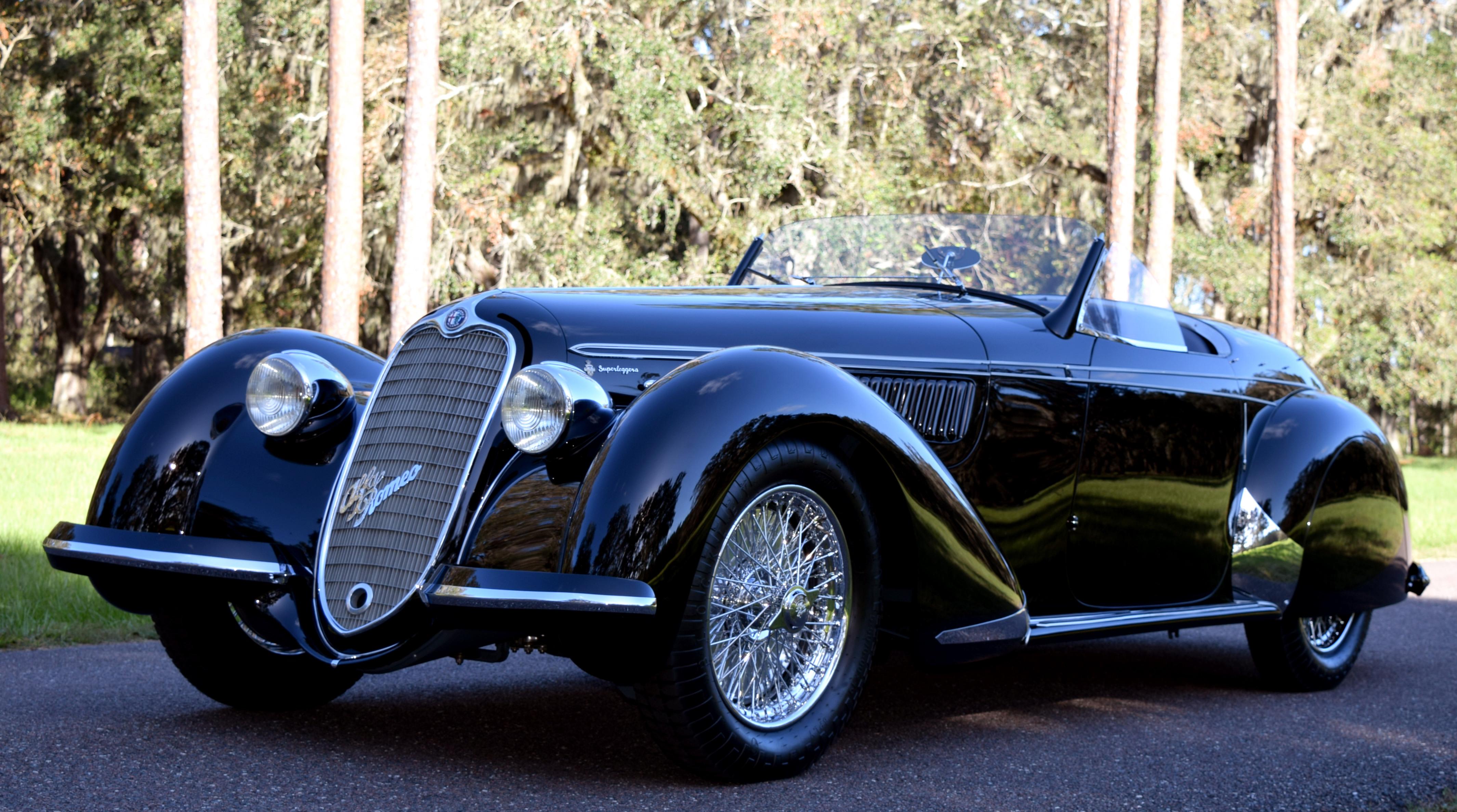 1939 Alfa Romeo 8C 2900B Spider by Touring: Amelia Island Concours de Sport