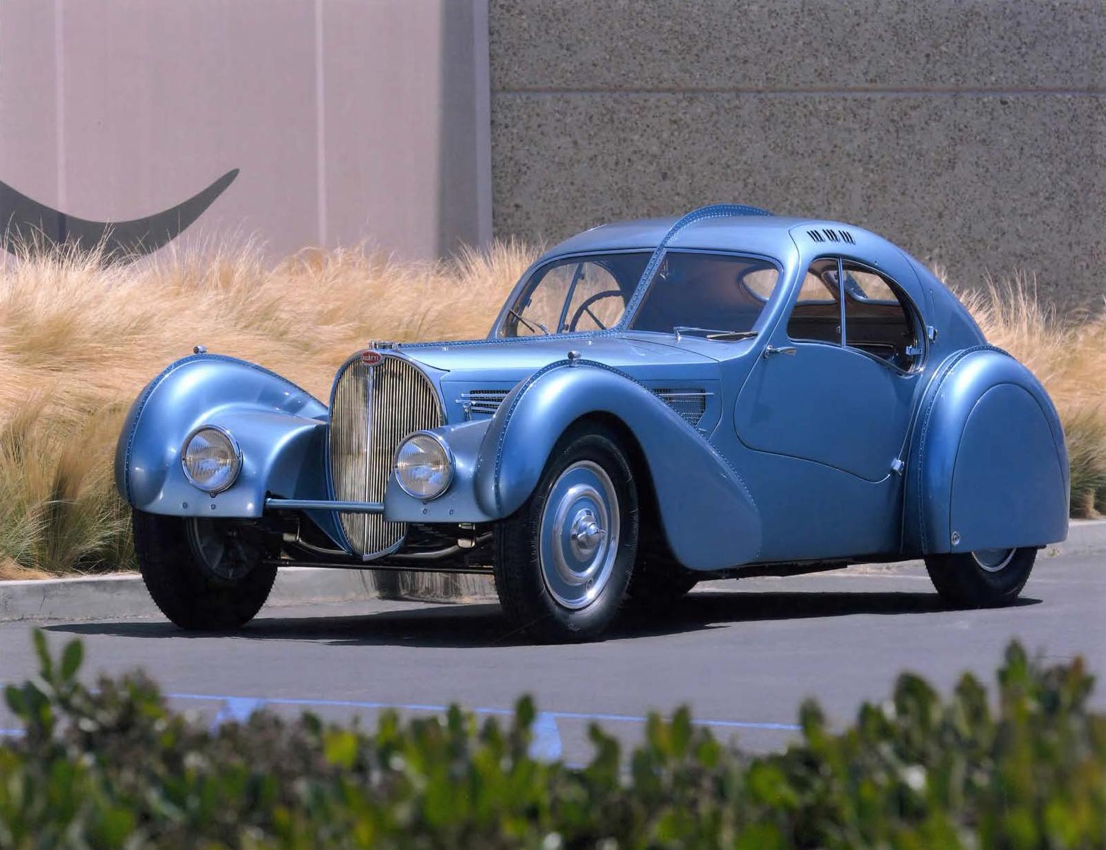 1936 Bugatti Type 57 SC Coupé Atlantic, design by Jean Bugatti: Chantilly Arts & Elégance Richard Mille