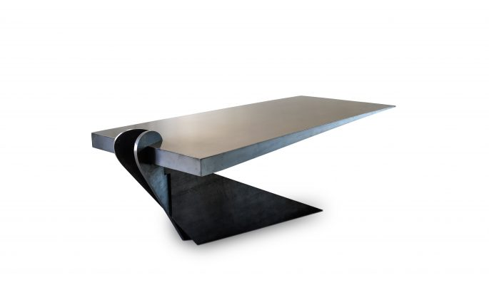 Vintage Industrial's New Gravity Defying Cant Table