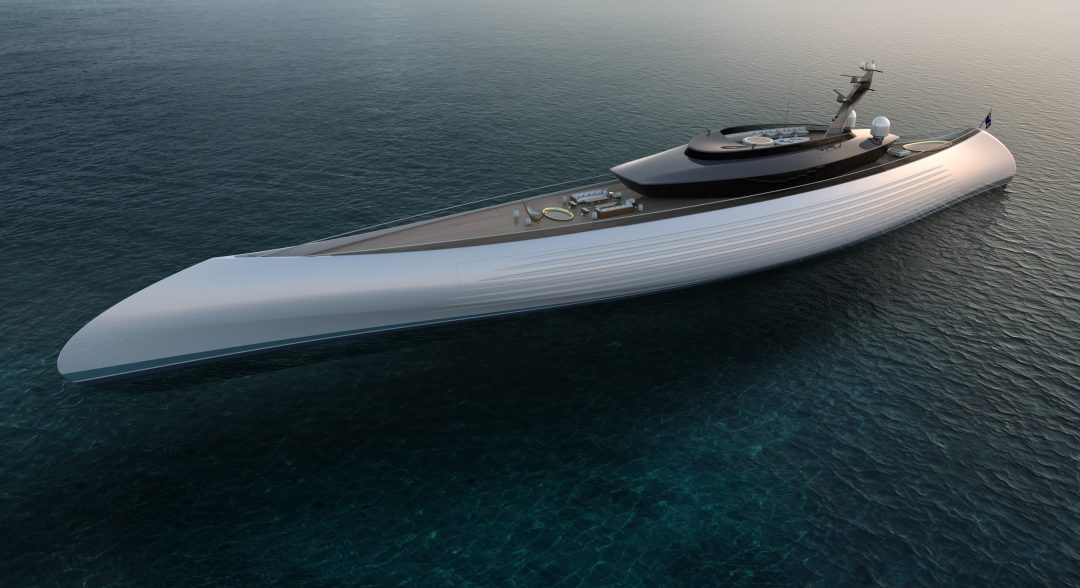 Oceanco Unveils Their New and Innovative 115-Metre Tuhura - exterior